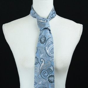 NEW Jos. A. Bank 100% Silk Blue Paisley Tie